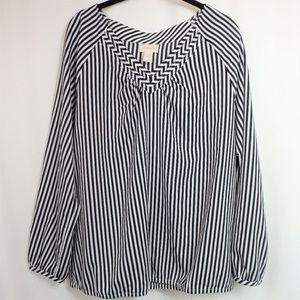 Chico's Long Sleeve Popover Blouse Size 2 / Large